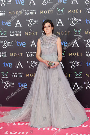 Angeles Gonzalez Sinde Angelez Gonzalez Sinde poses for photographers on the red carpet before the Goya Film Awards Ceremony in Madrid, Spain