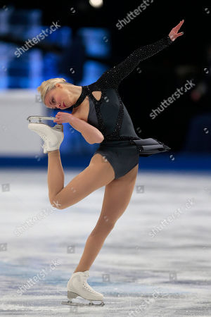 Kiira Korpi Kiira Korpi of Finland skates her short program during the European Figure Skating championships in Stockholm, Sweden, on