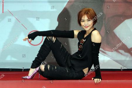 Stefanie Sun Singapore singer Stefanie Sun performs during a promotional event in Taipei, Taiwan