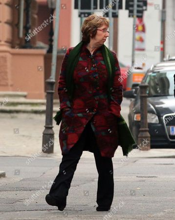 Catherine Ashton Former EU foreign policy chief Catherine Ashton walks on street, while closed-door nuclear talks with Iran and six world powers still going on in Vienna, Austria