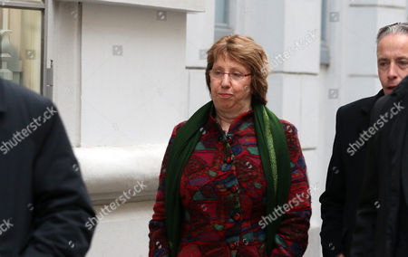 Catherine Ashton Former EU foreign policy chief Catherine Ashton walks on street while closed-door nuclear talks with Iran take place in Vienna, Austria