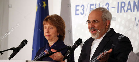 Catherine Ashton, Mohamad Javad Zarif Former European foreign policy chief Catherine Ashton, left, and Iranian Foreign Minister Mohamad Javad Zarif, right, address the media after closed-door nuclear talks in Vienna, Austria, . Facing still significant differences between the U.S. and Iran, negotiators gave up on last-minute efforts to get a nuclear deal by the Monday deadline and extended their talks for another seven months