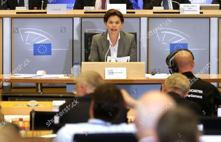 Alenka Bratusek European Union Commissioner designate for Energy Union Alenka Bratusek talks during a hearing at the Committee on Industry, Research and Energy and the Committee on Environment, Public Health and Food Safety, at the European Parliament in Brussels, on