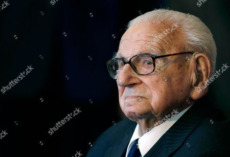 "Sir Nicholas Winton A photo from files of the then 105 year-old Sir Nicholas Winton waiting to be decorated with the highest Czech Republic's decoration, The Order of the White Lion at the Prague Castle in Prague, Czech Republic. Winton, a humanitarian who almost single-handedly saved more than 650 Jewish children from the Holocaust, earning himself the label ""Britain's Schindler,"" has died. He was 106. The Rotary Club of Maidenhead, of which he was former president, said Winton died Wednesday, July 1, 2015, with his daughter Barbara and two grandchildren at his side"