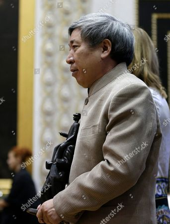 """Chinese author Yan Lianke whose books are banned in his homeland receives the prestigious Franz Kafka Prize in Prague, Czech Republic, . The Prize is awarded by the Prague-based Franz Kafka Society to authors whose works """"appeal to readers regardless of their origin, nationality and culture"""