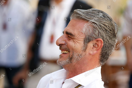 Maurizio Arrivabene On, Maurizio Arrivabene smiles in the paddock prior to the start of the Emirates Formula One Grand Prix at the Yas Marina racetrack in Abu Dhabi, United Arab Emirates. Ferrari Monday, Nov. 24, 2014 has replaced Marco Mattiacci with Maurizio Arrivabene as team principal in the latest shakeup for the struggling Formula One team. Mattiacci lasted just seven months on the job after being hired in April to replace Stefano Domenicali. On Sunday, Ferrari finished its first season without a race win since 1993