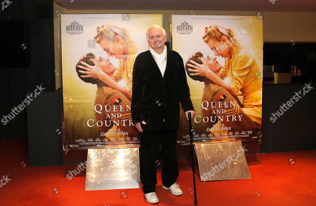 British director John Boorman poses before the premiere of his movie Queen and Country, in Paris, France