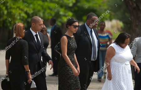 "Anya Duvalier, Francois-Nicolas Duvalier, Michele Bennett Anya Duvalier, center, the daughter of Haiti's late dictator Jean-Claude ""Baby Doc"" Duvalier, arrives to the funeral home with her brother Francois-Nicolas Duvalier, second from left, and mother Michele Bennett, left, after the funeral ceremony for Duvalier in Port-au-Prince, Haiti, . Many had wondered whether the self-proclaimed ""president for life"" would receive a state funeral following his death last Saturday from a heart attack at age 63. However, friends and family held a simple and private funeral"