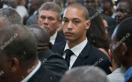 """Francois-Nicolas Duvalier Francois-Nicolas Duvalier, the son of Haiti's late Dictator Jean-Claude """"Baby Doc"""" Duvalier, leaves at the end of his father's funeral ceremony in Port-au-Prince, Haiti, . Many had wondered whether the self-proclaimed """"president for life"""" would receive a state funeral following his death last Saturday from a heart attack at age 63, but Duvalier's attorney announced late this week that friends and family would arrange a simple and private funeral"""