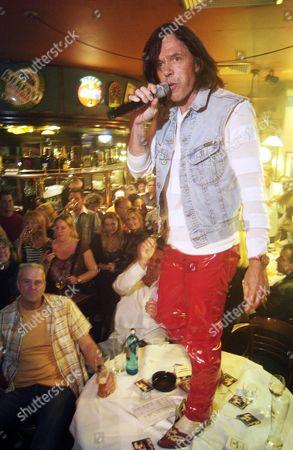 Stock Picture of Singer Jurgen Drews performs in Berlin, Germany