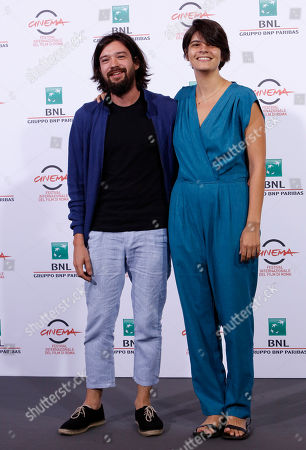 Israel Cardenas Lauria Amelia Guzman Directors Israel Cardenas and Lauria Amelia Guzma, right, pose during a photo call for their movie 'Sand Dollars' at the 9th edition of the Rome Film Festival in Rome