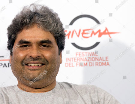 Director Vishal Bhardwaj poses for photographers during the photo call of the movie 'Haider' at the 9th edition of the Rome International Film Festival in Rome