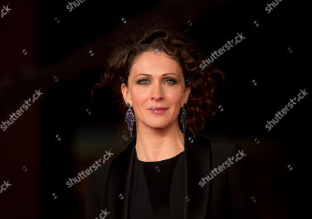 Actress Ksenia Rappoport poses for photographers during the red carpet of the movie ' La Foresta di Ghiaccio' at the 9th edition of the Rome International Film Festival in Rome