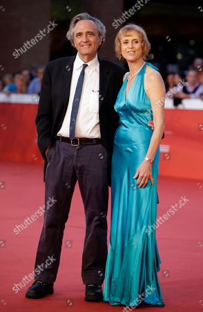Director Joe Dante, left, poses for photographers with his wife Sylvia Dante on the occasion of the opening ceremony of the Rome Film Festival, in Rome