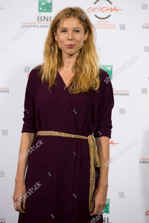 "Stock Image of Actress Lola Peploe poses for photographers during the photo call of the movie ""Obra"", in Rome"