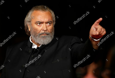 Stock Photo of Actor Diego Abbatantuono poses for photographers on the occasion of the opening ceremony of the Rome Film Festival, in Rome
