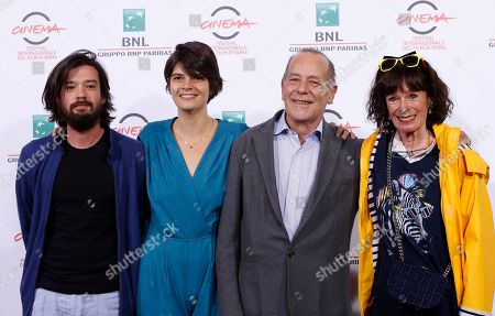 Israel Cardenas Lauria Amelia Guzman Jean-Noel Pancrazi Geraldine Chaplin From left, directors Israel Cardenas and Lauria Amelia Guzman, writer Jean-Noel Pancrazi and actress Geraldine Chaplin pose during a photo call for the movie 'Sand Dollars' at the 9th edition of the Rome Film Festival in Rome