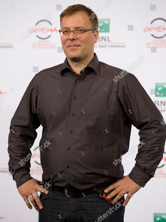 """Director Christoph Hochhausler poses for photographers during a photo call for the movie """"The Lies of the Victors"""", at the Rome Film Festival, in Rome"""