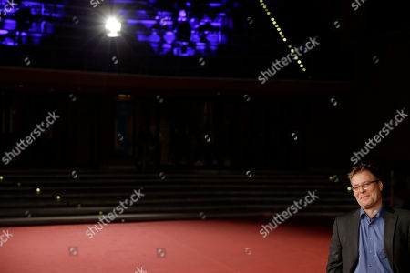 """Stock Image of Director Christoph Hochhausler poses for photographers as he arrives on the red carpet for the screening of the movie """"The Lies of the Victors"""" at the Rome Film Festival, in Rome"""