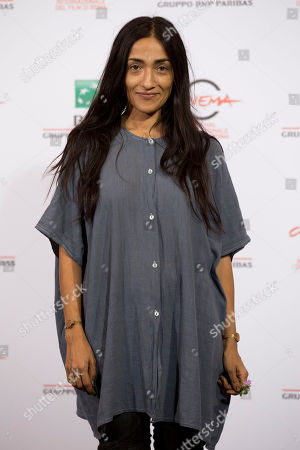 "Actress Zahra Hindi poses for photographers during a photo call for the movie ""The Narrow Frame of Midnight"", at the Rome Film Festival, in Rome"