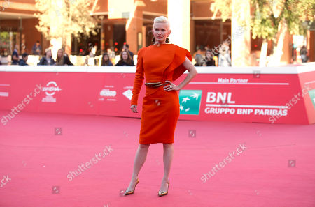 Director Gren Wells poses for photographers during the red carpet of the movie 'The Road Within' at the 9th edition of the Rome International Film Festival in Rome