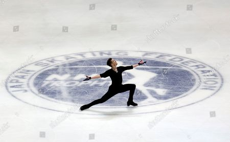 Jeremy Abbott Jeremy Abbott of the United States performs during a practice session for the NHK Trophy figure skating in Osaka, western Japan