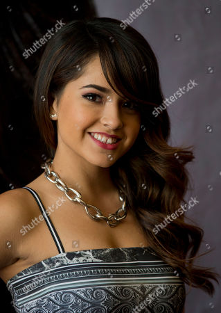 Stock Picture of Becky G, Rebbeca Marie Gomez U.S. singer Becky G poses during a photo call at a hotel in Mexico City, . The 17-year-old Californian singer, whose full name is Rebbeca Marie Gomez, is the opening act for Katy Perry's three Mexico performances