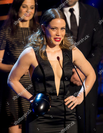 """Stock Photo of Leandra Leal Brazilian actress Leandra Leal receives the Fenix Award for best actress for her role in the film, """"O Lobo Atrás da Porta"""" during the Fenix Iberoamerican Film Awards at the Esperanza Iris Theater in Mexico City"""