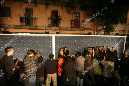Stock Photo of Karen Martinez, Diego Quemada-Diez Guatemalan actress Karen Martinez and Spanish director Diego Quemada-Diez walk the red carpet during the Fenix Iberoamerican Film awards at the Esperanza Iris Theater in Mexico City
