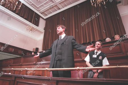 'Emmerdale' TV - 1999 - Steve (Paul Opacic) can not believe the verdict of his trial.