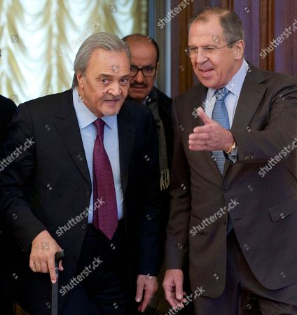Sergey Lavrov, Saud al-Faisal Russian Foreign Minister Sergey Lavrov, right, welcomes Saudi Foreign Minister Prince Saud al-Faisal during their meeting in Moscow, Russia