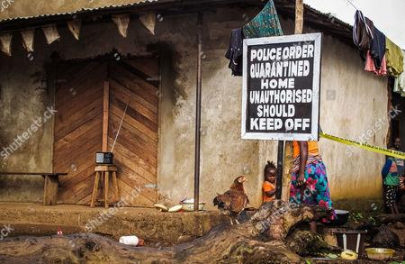 Editorial picture of Sierra Leone Ebola West Africa, Port Loko, Sierra Leone