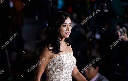 Stock Picture of Cho Min-soo South Korean actress Cho Min-soo arrives for a photo call during the Daejong Film Awards in Seoul, South Korea