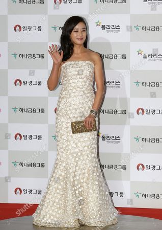 Stock Photo of Cho Min-soo South Korean actress Cho Min-soo poses for a photo call during the Daejong Film Awards in Seoul, South Korea