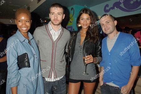 Tolula Adeyemi, Justin Timberlake, Jamie Gunns and Trace Ayala