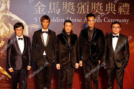 Stock Photo of Wei Te-Sheng Taiwanese director Wei Te-Sheng, from left, actor Tsao Yu-Ning, Japanese actor Masatoshi Nagase, director Umin Boya and producer Jimmy Huang pose on the red carpet at the 51st Golden Horse Awards in Taipei, Taiwan, . Golden Horse Awards is one of the Chinese-language film industry's biggest annual events
