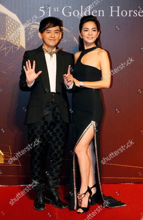 Ella Chen, Micky Huang Taiwanese singer Ella Chen, right, and actor Micky Huang pose on the red carpet at the 51st Golden Horse Awards in Taipei, Taiwan
