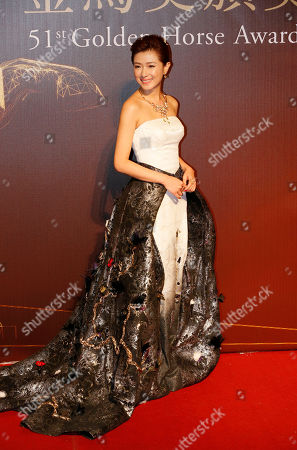 """Regina Wan Chinese actress Regina Wan arrives at the 51st Golden Horse Awards in Taipei, Taiwan, . Wan is nominated for Best Supporting Actress for the film """"Paradise in Service"""" at this year's Golden Horse Awards -one of the Chinese-language film industry's biggest annual events"""