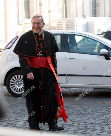 Cardinal Walter Kasper arrives at the morning session of a two-week synod on family issues including contraception, pre-marital sex and divorce, at the Vatican, . 200 cardinals and bishops from around the world have arrived in Rome for the meeting