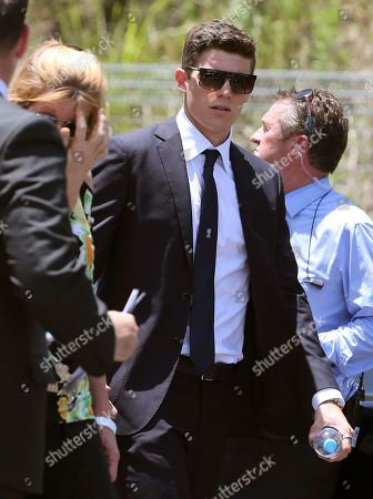 Sean Abbott NSW cricketer Sean Abbott arrives for the funeral of Australian cricketer Phil Hughes in Macksville, Australia, . Hughes, 25, died Nov. 27, two days after he was hit in the head during a domestic cricket match