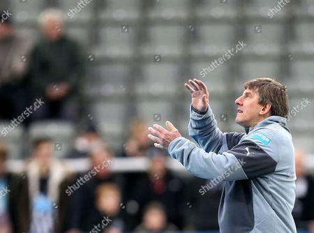 Newcastle United's Peter Beardsley ahead of their English Premier League soccer match between Newcastle United and Burnley at St James' Park, Newcastle, England