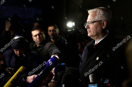 Ivo Josipovic Incumbent Ivo Josipovic talks to the media after his vote at a polling station in Zagreb, Croatia, . A liberal incumbent and a conservative rival are heading into a surprisingly close showdown in Croatia's presidential runoff held amid deep discontent over economic woes in the European Union's newest member