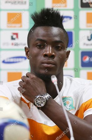 Stock Image of Ivory Coast soccer player Eric Bertrand Bailly attends a news conference ahead of their Group D Match on Saturday against Mali at Estadio De Malabo in Malabo, Equatorial Guinea