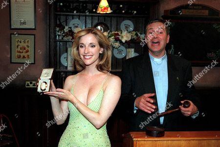 'Emmerdale'  TV - 2001 - Lady Tara Oakwell (Anna Brecon) with Ashley Thomas (John Middleton)