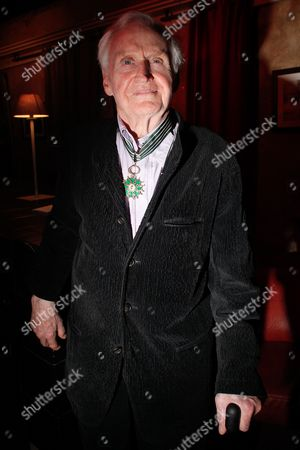 British director John Boorman poses for photographers after he being awarded the medal of commandeur de l'Ordre des Arts et Lettres, in Paris