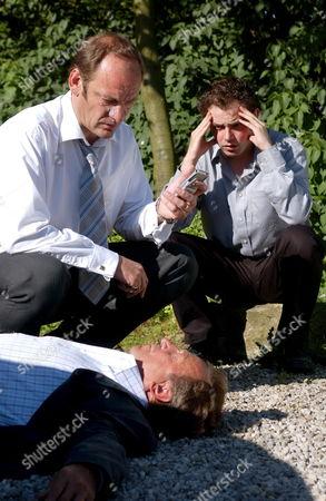 'Emmerdale'  - Tom King (Ken Farrington), Jimmy King (Nick Miles) and Max King (Charlie Kemp)