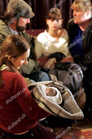 'Emmerdale'  -   Zak Dingle (Steve Halliwell), Lisa Dingle (Jane Cox) and Emily Kirk (Kate McgGregor) and Debbie Jones (Charley Webb)