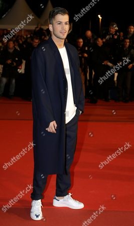 Portuguese pop, dance, hip hop and R&B singer David Carreira arrives at the Cannes festival palace, to take part in the NRJ Music awards ceremony, in Cannes, southeastern France
