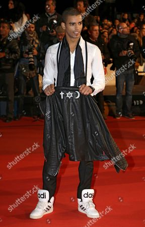 French dancer and choreographer Brahim Zaibat arrives at the Cannes festival palace, to take part in the NRJ Music awards ceremony, in Cannes, southeastern France