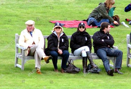 Ros Packer and Erica Baxter watching James Packer playing polo where his team Ellerston White won 14-9